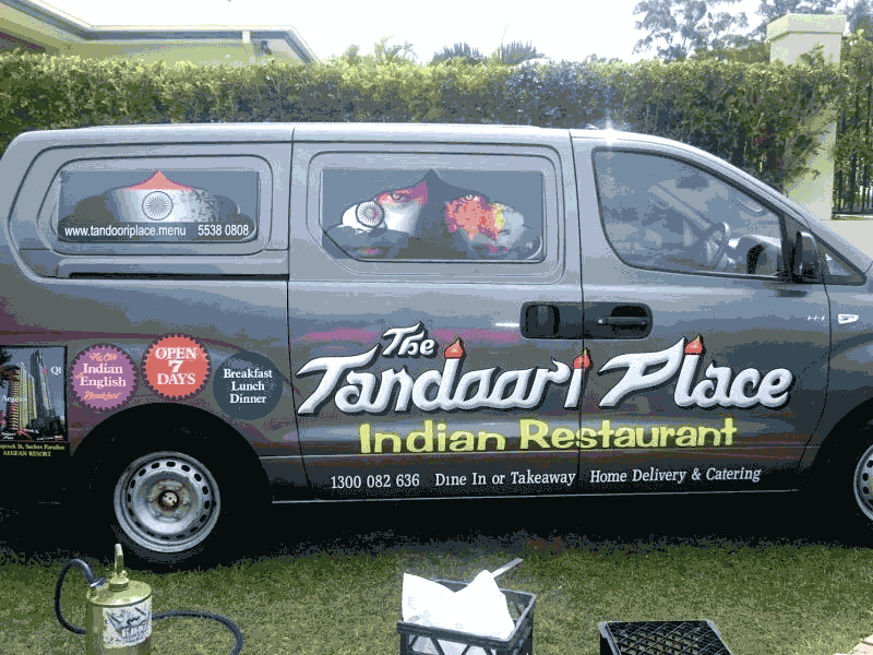 Indian Resturant Vehicle Wrap