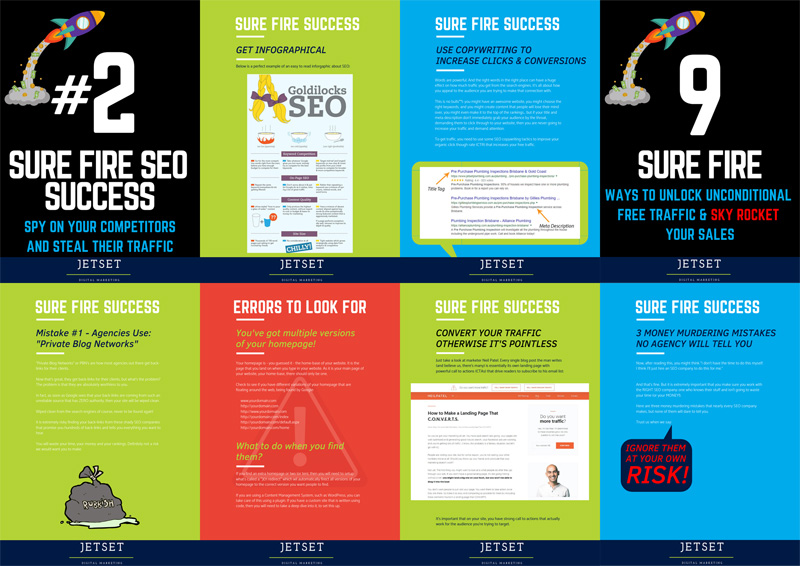 Inside pages of Search Engine Optimisation book